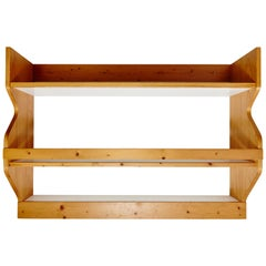 Charlotte Perriand Mid-Century Modern Pine Wood Shelves for Les Arcs, circa 1960