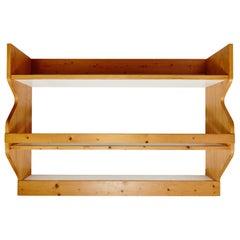 Charlotte Perriand Mid-Century Modern Pine Wood Shelves for Les Arcs, circa 1960