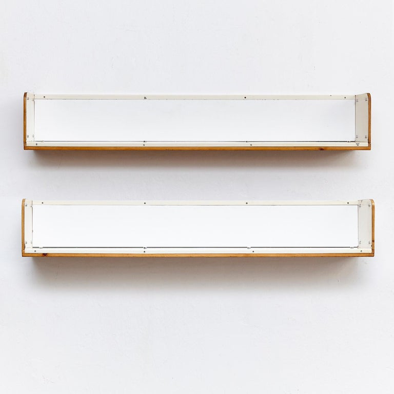 Metal Charlotte Perriand, Mid-Century Modern, Shelve for Les Arcs, circa 1960 For Sale