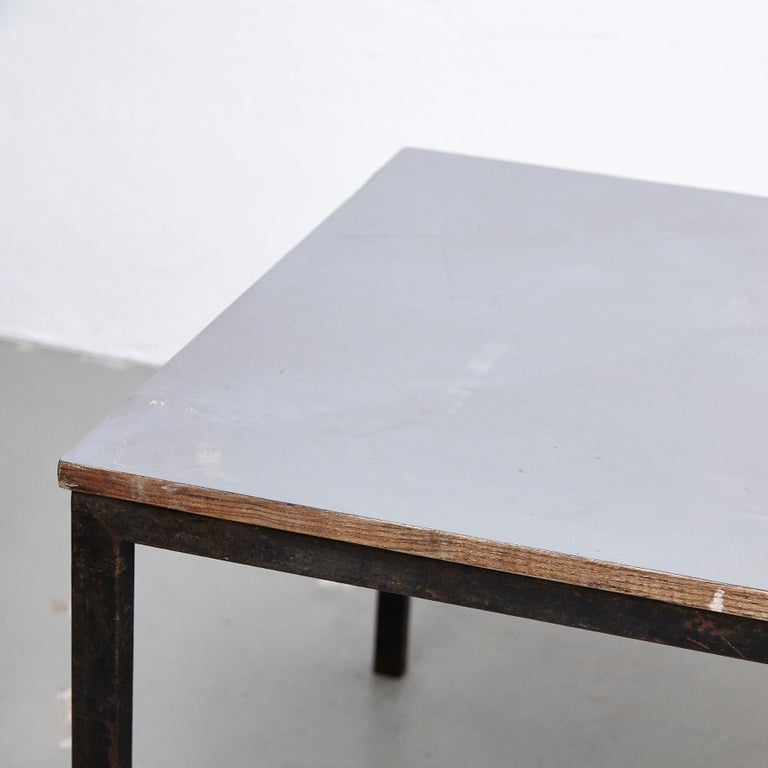 Charlotte Perriand, Mid-Century Modern, Wood Metal Cansado Table, circa 1950 For Sale 5