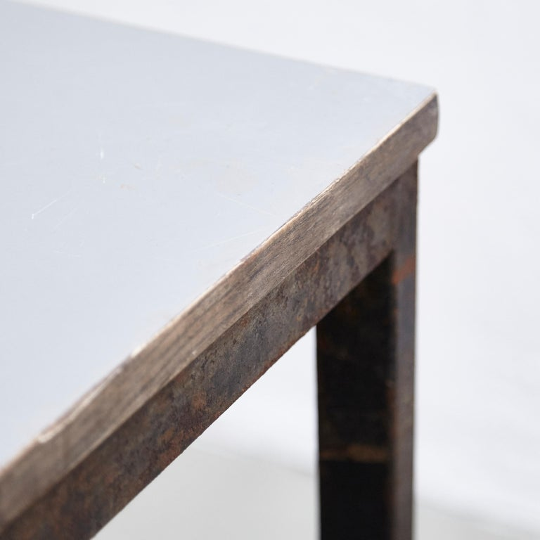 Charlotte Perriand, Mid-Century Modern, Wood Metal Cansado Table, circa 1950 For Sale 2