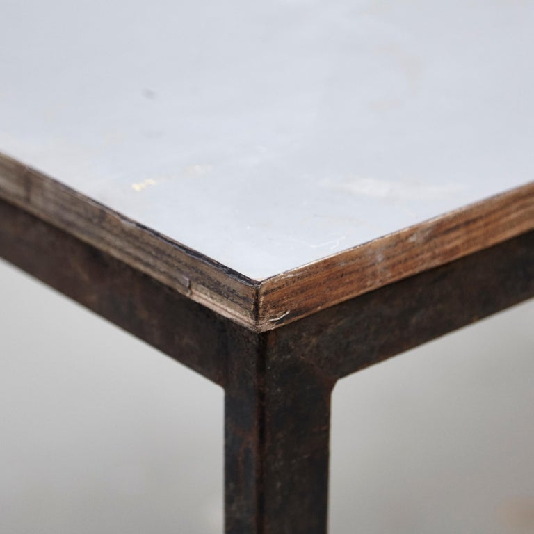 Charlotte Perriand, Mid-Century Modern, Wood Metal Cansado Table, circa 1950 For Sale 4
