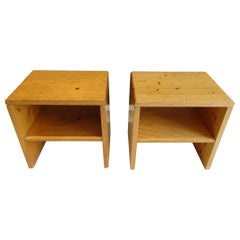 """Charlotte Perriand Pair of Bedside Tables """"les Arcs"""""""