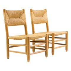 Charlotte Perriand Pair of Rush Chairs