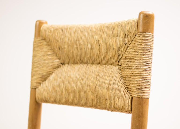 Charlotte Perriand Pair of Rush Lounge Chairs For Sale 4