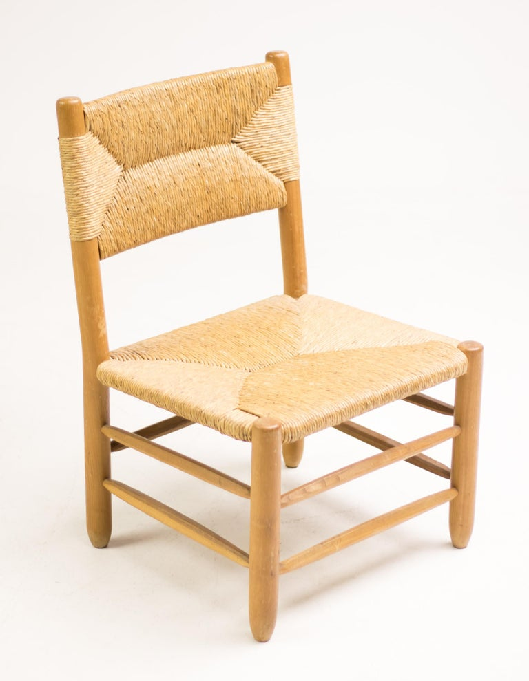 Charlotte Perriand Pair of Rush Lounge Chairs For Sale 9