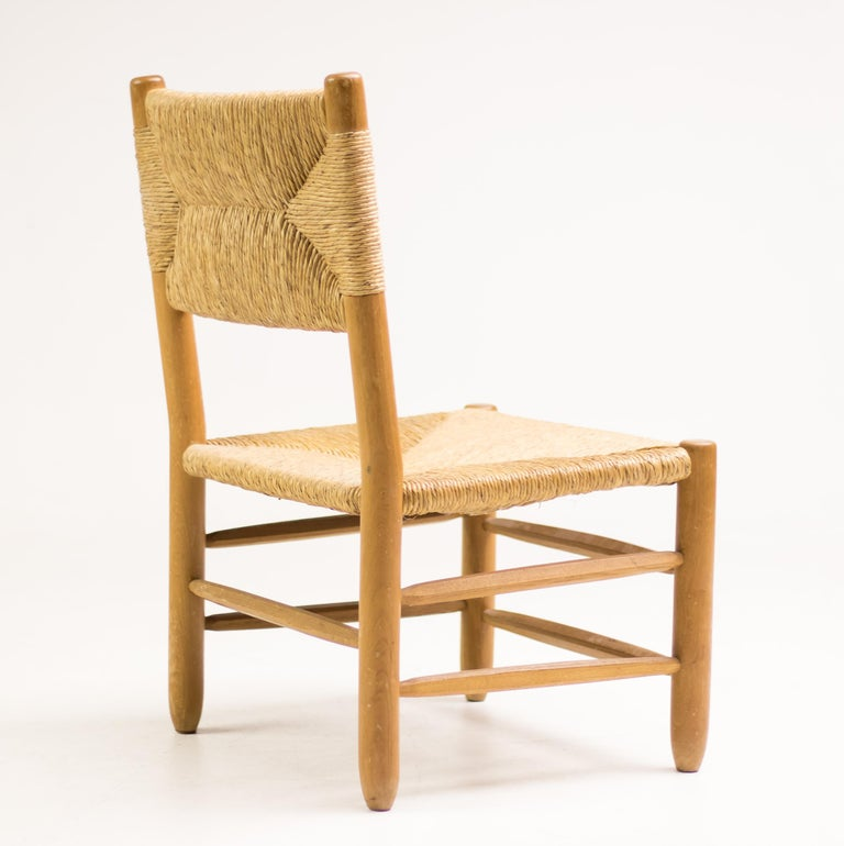 French Charlotte Perriand Pair of Rush Lounge Chairs For Sale
