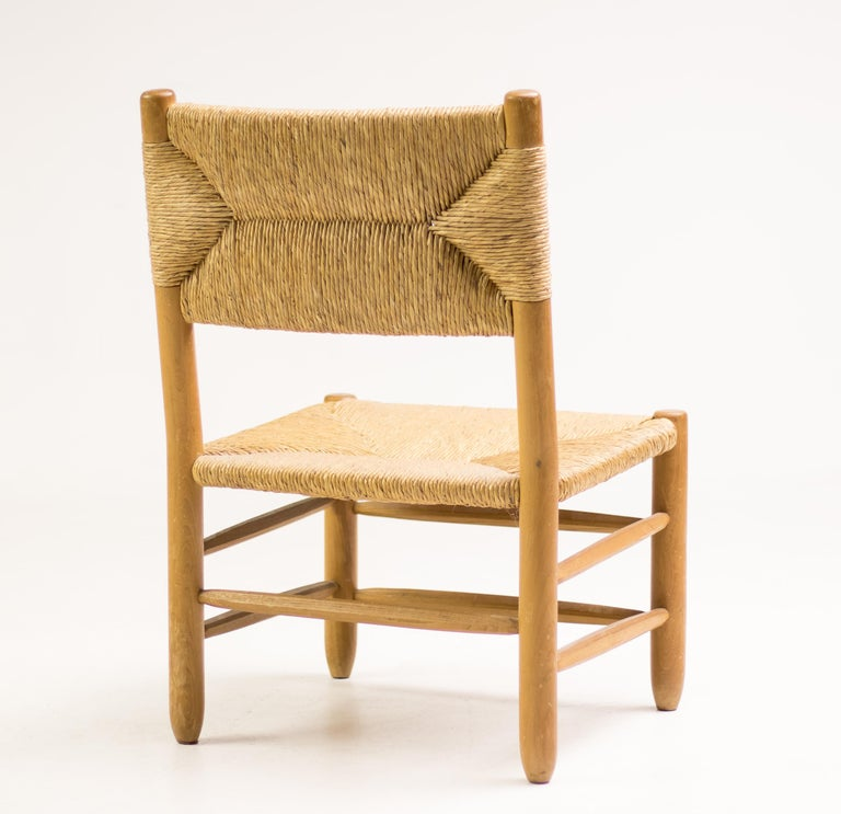 Charlotte Perriand Pair of Rush Lounge Chairs In Good Condition For Sale In Dronten, NL