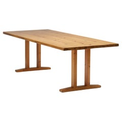 Charlotte Perriand Inspired Pine Dining Table