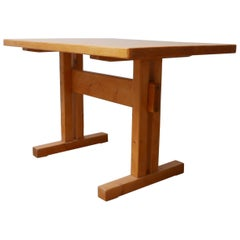 Charlotte Perriand Pine Midcentury French Dining Table or Desk