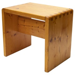 Charlotte Perriand Pinewood Stool for Les Arcs Ski Resort, circa 1960, France