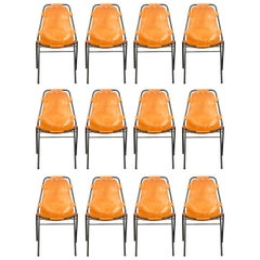 Charlotte Perriand, Set of 12 Chairs, DalVera Edition, France, circa 1967