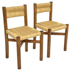 Charlotte Perriand, Set Of 2 'Méribel' Chairs, France 1950.