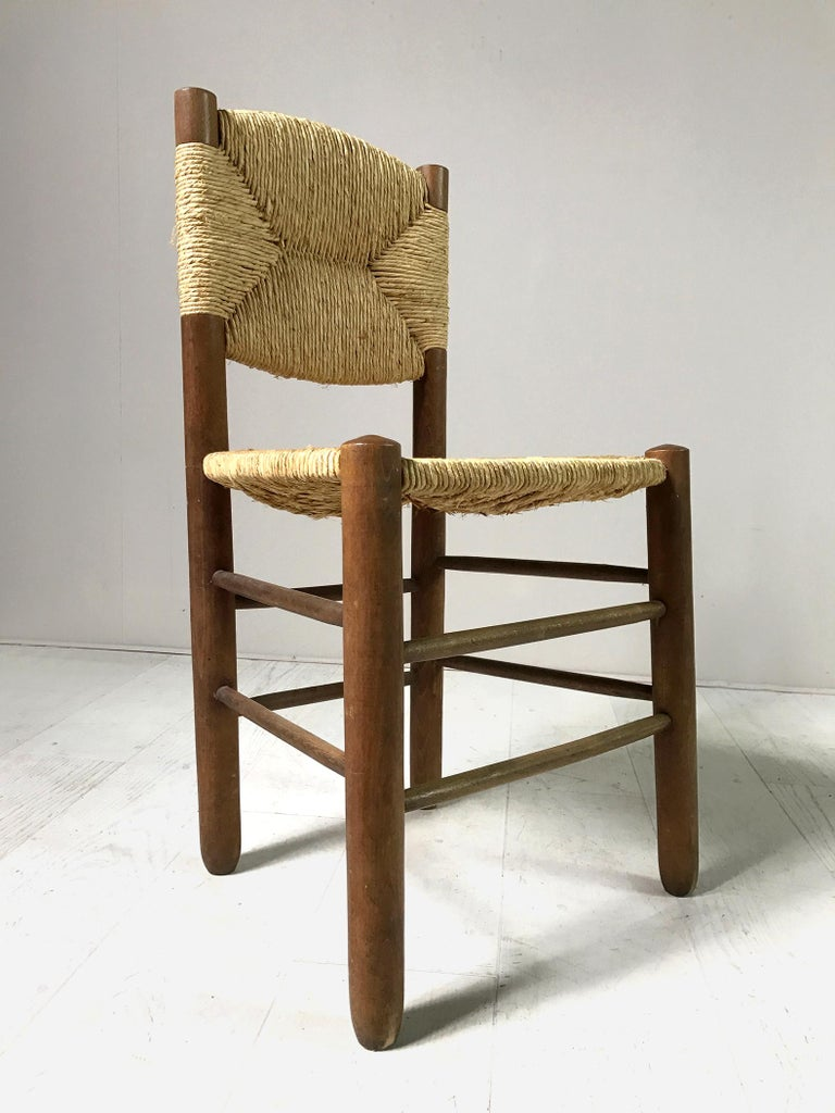 Charlotte Perriand, Set of 6 Chair N° 18 Bauche, France, 1950 For Sale 5