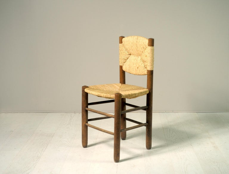 Charlotte Perriand, Set of 6 Chair N° 18 Bauche, France, 1950 For Sale 2