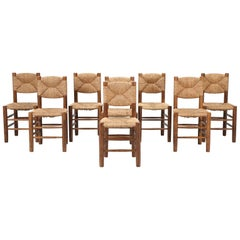 Charlotte Perriand, Set of Eight Side Chairs, Model Bauche in Original Condition
