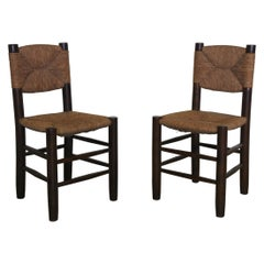 Charlotte Perriand Set of Two Chairs N 19, France, Early 1950s