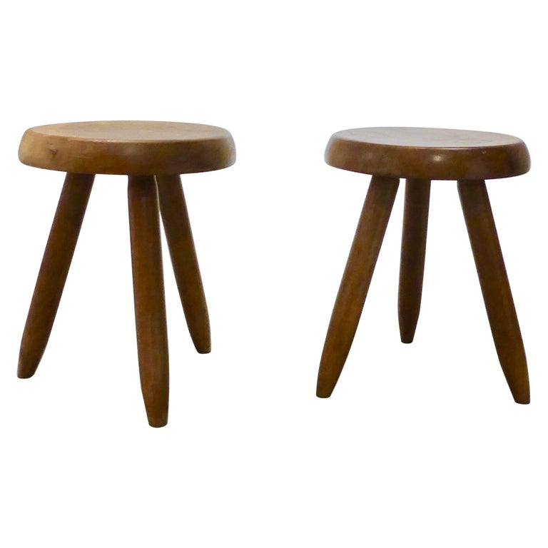 Charlotte Perriand, Stool 'Pair' For Sale
