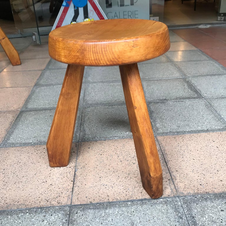 French Charlotte Perriand Stool, Sandoz Model For Sale
