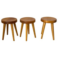 Charlotte Perriand Stools Coming from Méribel Les Allies, 1946