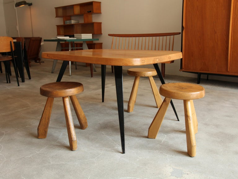 20th Century Charlotte Perriand, Stools from Les Arcs, Savoie, circa 1968 For Sale