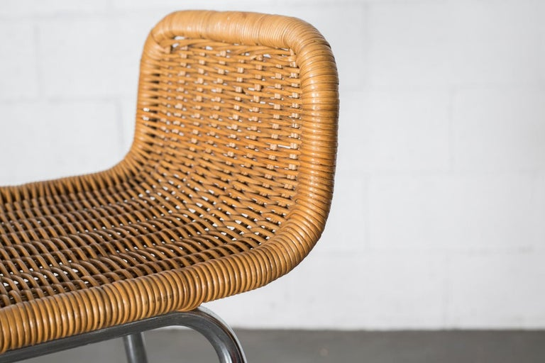 Charlotte Perriand Style Wicker Bar Stools For Sale 2