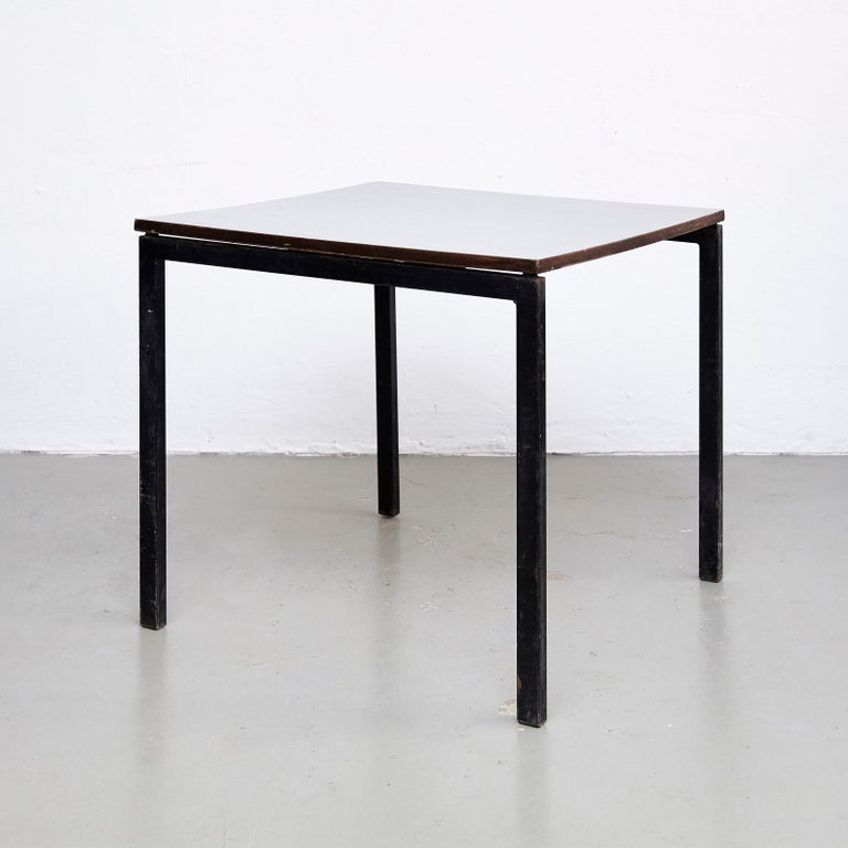 Mid-Century Modern Charlotte Perriand, Mid Century Modern, Wood Formica and Metal Table, circa 1950