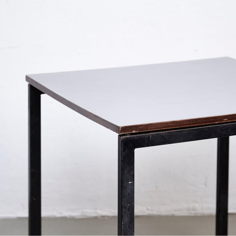 Charlotte Perriand, Mid Century Modern, Wood Formica and Metal Table, circa 1950 1