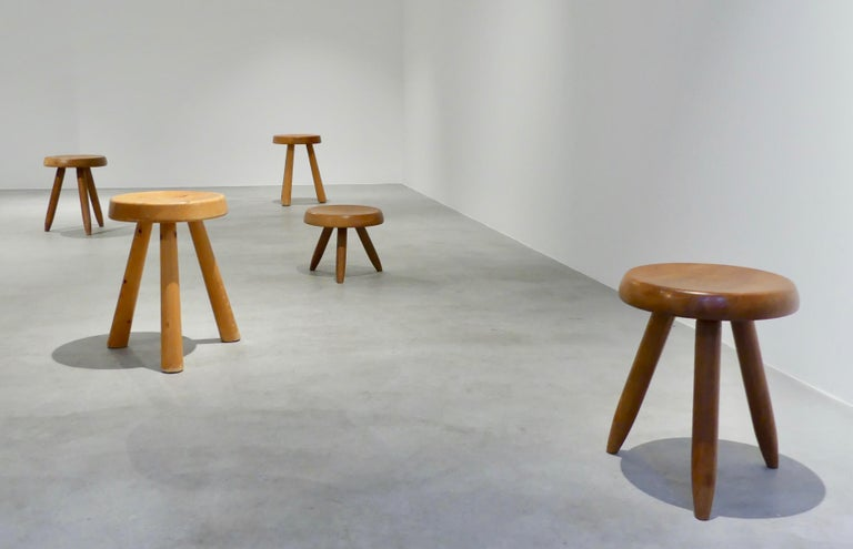 Mid-20th Century Charlotte Perriand, 'Tabouret Berger' 'Berger Stool' For Sale