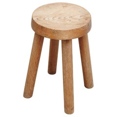 Charlotte Perriand Wood Stool for Les Arcs, circa 1960