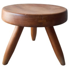 Charlotte Perriand Wooden Berger Stool, circa 1950