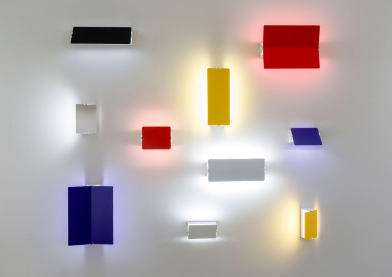 Charlotte Perriand 'Applique Á Volet Pivotant' Wall Lights in Yellow For Sale 11