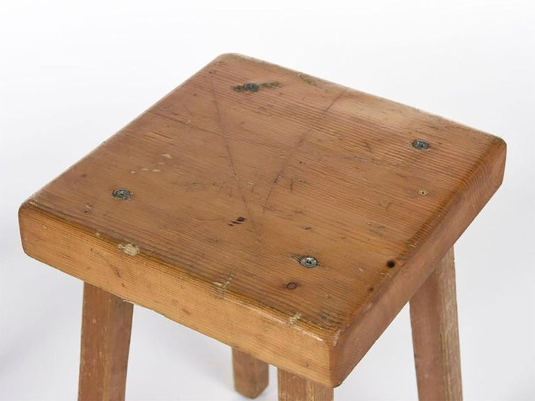 Mid-20th Century Charlotte Perriand's Square Stools For Sale