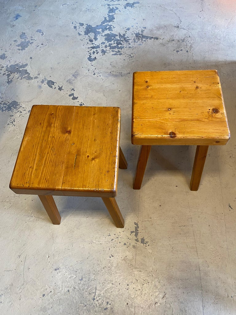 Charlotte Perriand's Square Stools For Sale 2