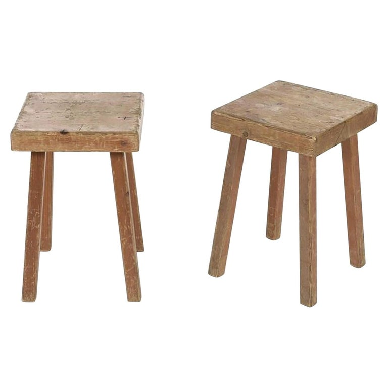Charlotte Perriand's Square Stools For Sale
