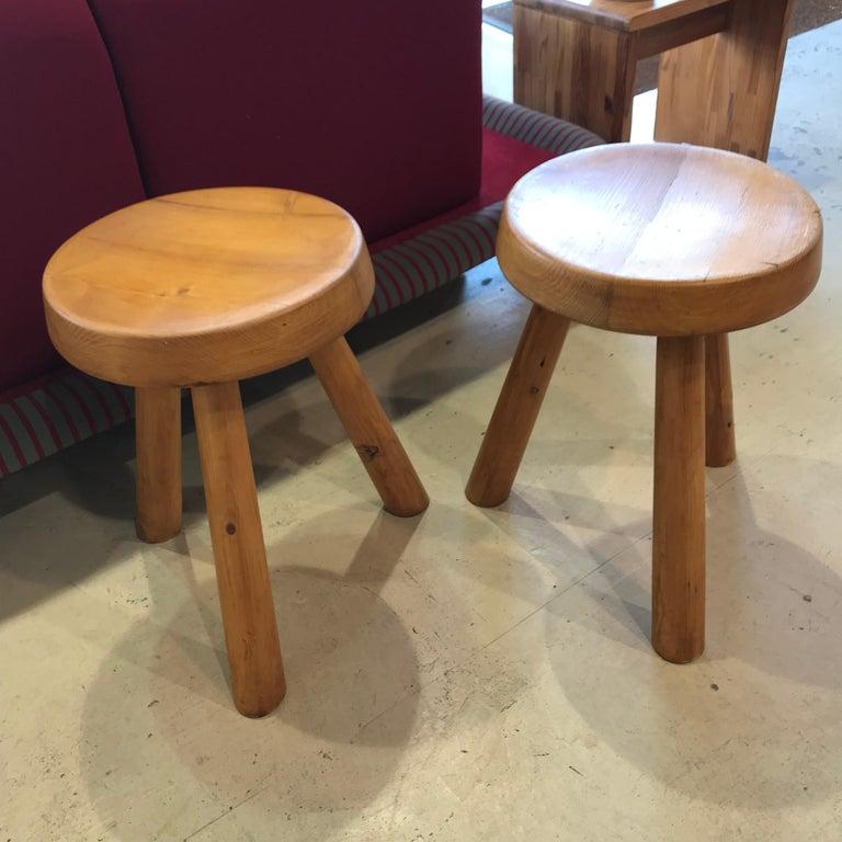 Wood Charlotte Perriand's Stools
