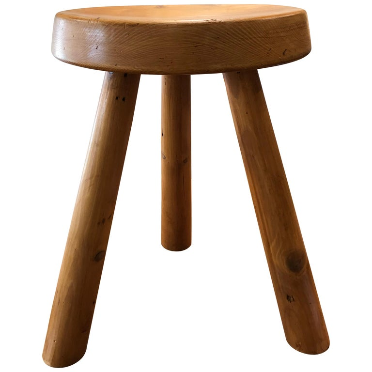 """Charlotte Perriand's Stools """"Marteau"""" For Sale"""