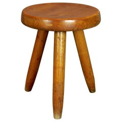 Charlotte Perriand, Solid Elm Stool, 1953