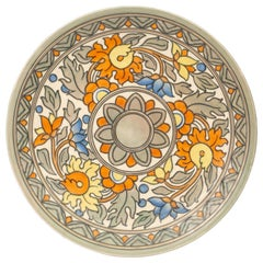 Charlotte Rhead Art Deco Crown Ducal Floral Tubelined Art Pottery Charger