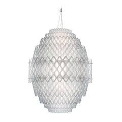 Charlotte White Ceiling Lamp by Doriana and Massimiliano Fuksas