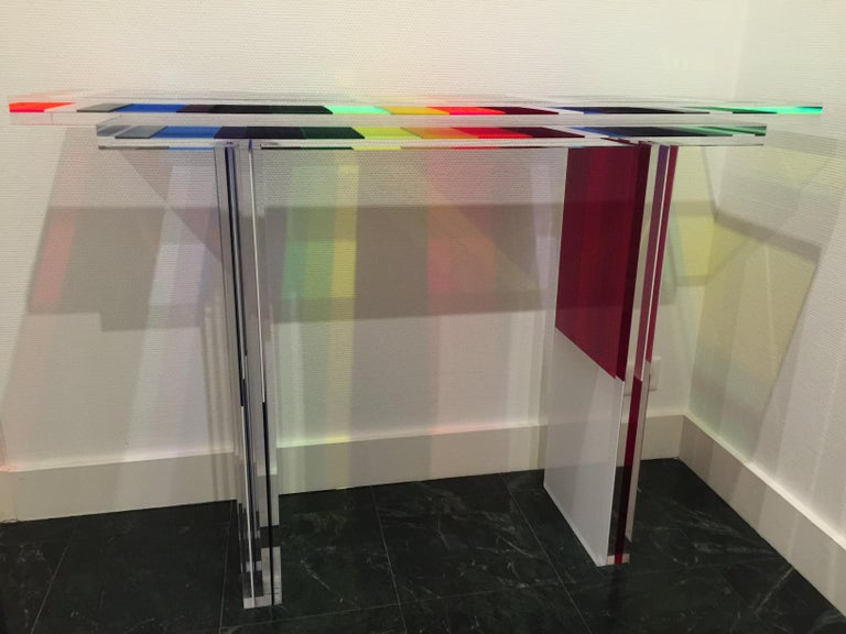 Modern Charly Bounan, Unique Colorful Console For Sale