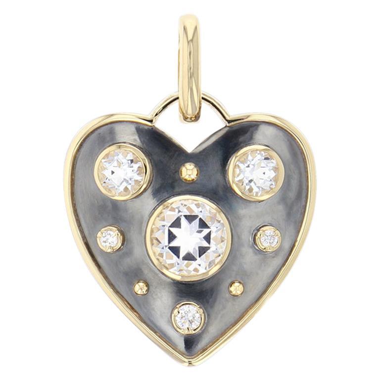 Charm Mini Coeur La Dame Du Lac Topaz For Sale