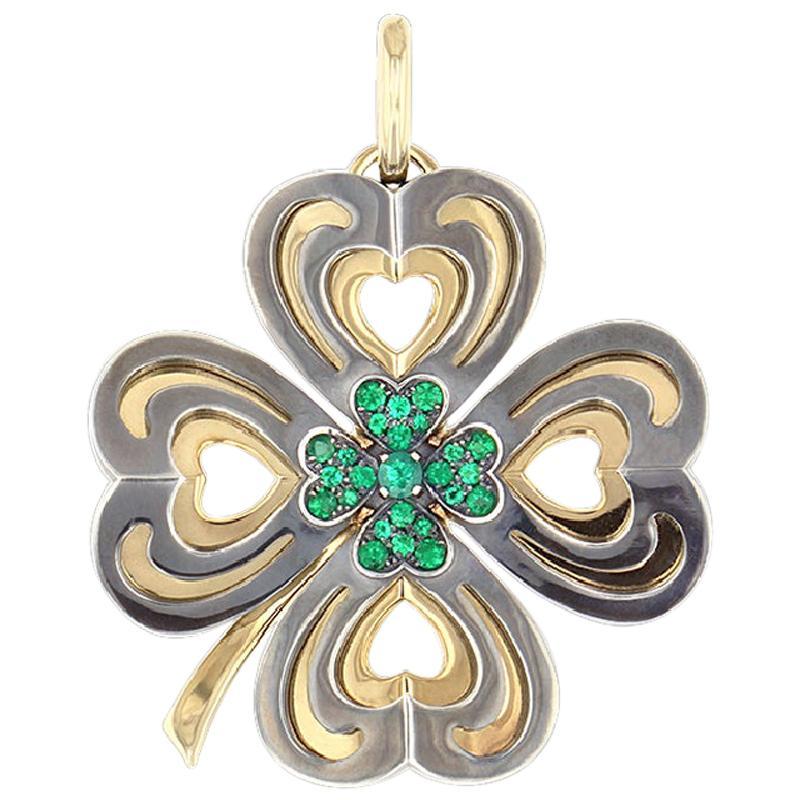 Charm Trèfle Cosmogonie Secrète Emerald