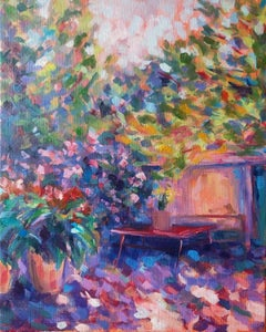 Moroccon Garden, Charmaine Chaudry, Original Landscape Painting, Affordable Art