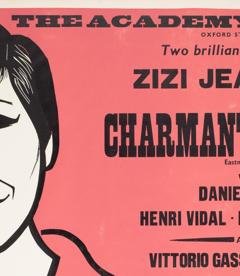 Charmants Garcons/Persons Unknown 1959 Academy Cinema Film Poster, Strausfeld In Good Condition For Sale In Bath, Somerset