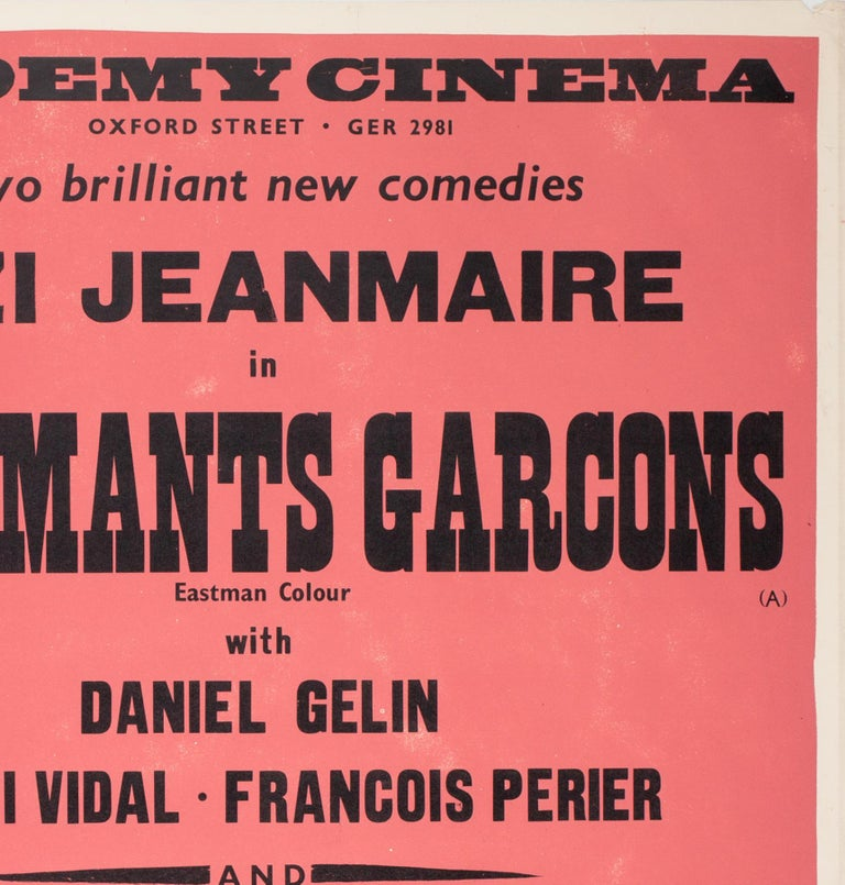 20th Century Charmants Garcons/Persons Unknown 1959 Academy Cinema Film Poster, Strausfeld For Sale