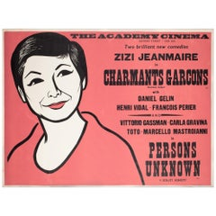 Charmants Garcons/Persons Unknown 1959 Academy Cinema Film Poster, Strausfeld