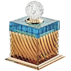 Charme Box in Aquamarine and Amber