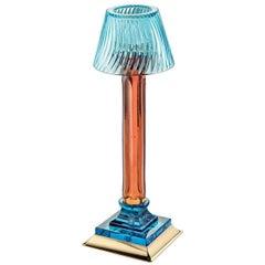 Charme Candleholder in Aquamarine