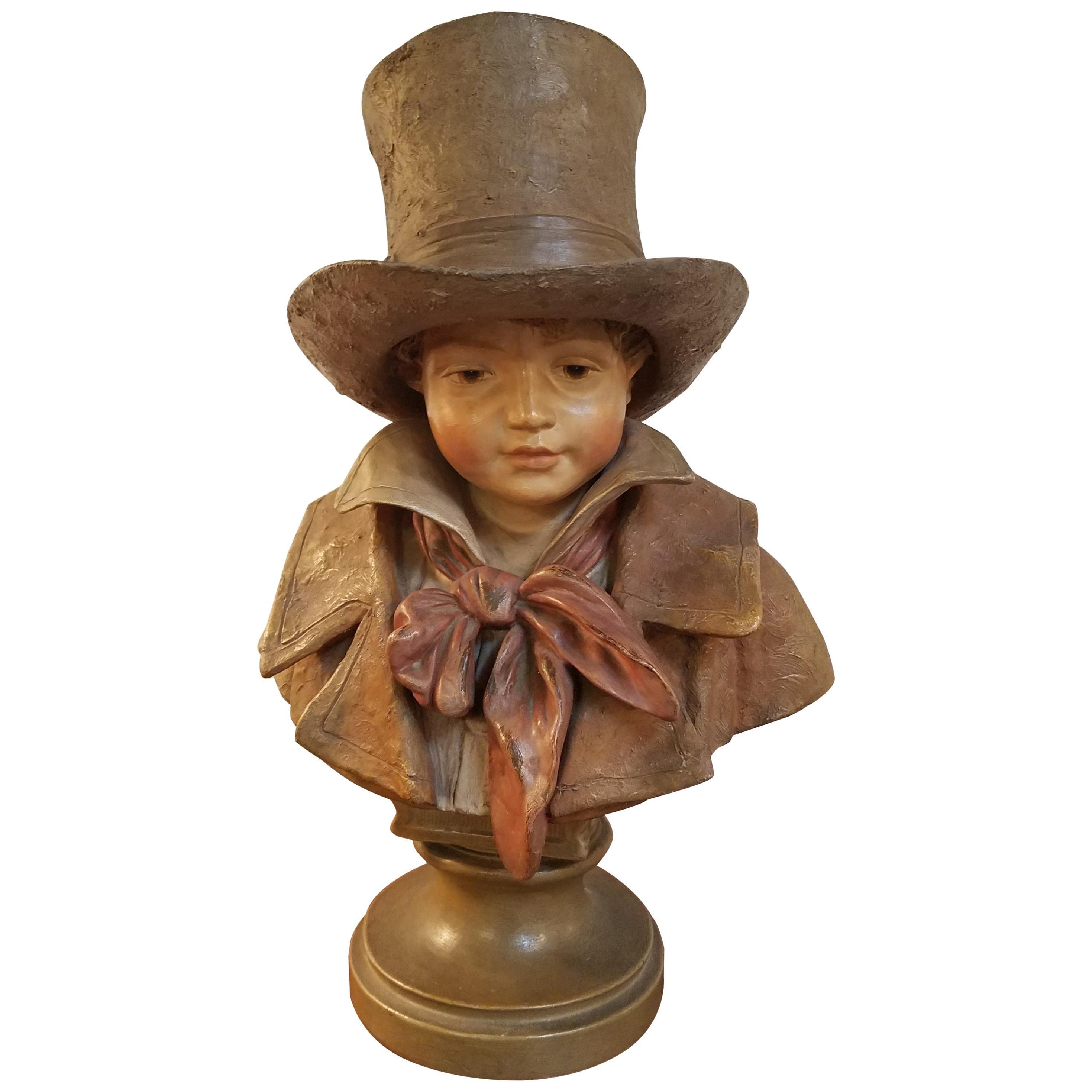 Charming 19th Century English Terracotta Bust